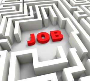 Job In Maze Showing Finding Or Searching For Jobs